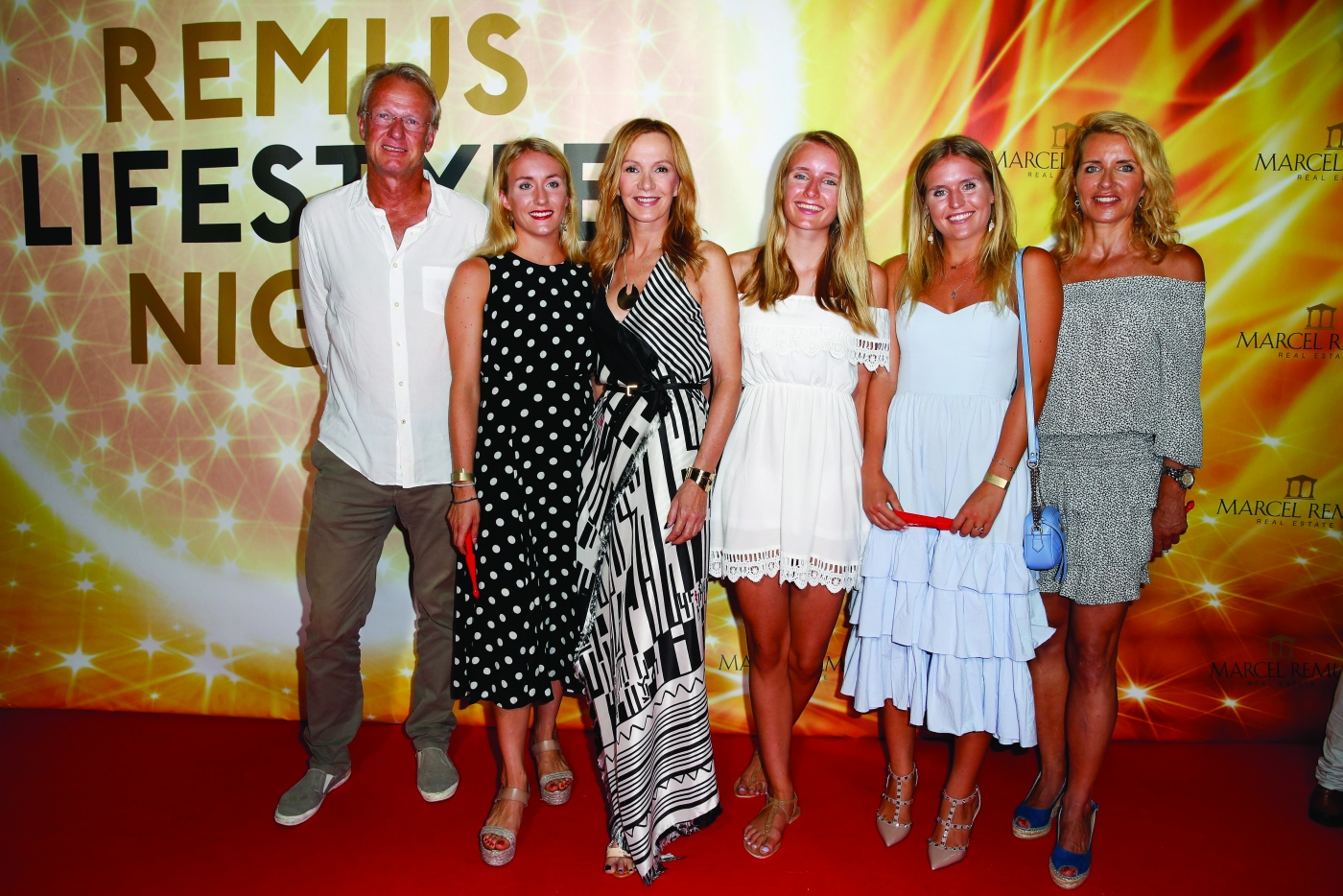 [ Evénement ] Katja Flint with her familie attend the Remus Lifestyle Night