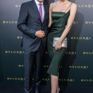 Jean-Christophe Babin, CEO of Bulgari, and Lena Gercke