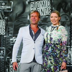 Steve Norman of the band Spandau Ballet and Sabrina Winter attend the 'Atomic Blonde'