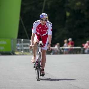 Daniela Ryf of Switzerland competes in the DATEV Challenge Roth 2017