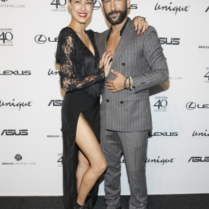 Rebecca Mir and Massimo Senato attend the Unique after party during Platform Fashion