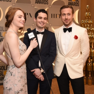 74th Golden Globe Awards, Actress Emma Stone, director Damien Chazelle, actor Ryan Gosling