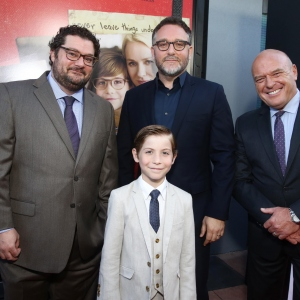 "Bobby Moynihan, Jacob Tremblay, Colin Trevorrow and Dean Norris seen at Focus Features ""The Book of Henry"" Premiere"