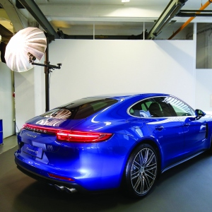 Generalview at the Porsche Panamera sneak