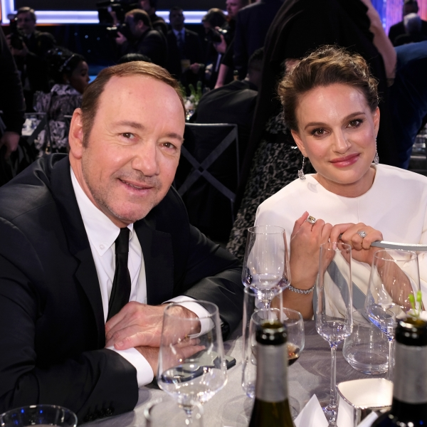 Actors Kevin Spacey and Natalie Portman