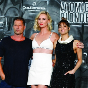 Til Schweiger, Charlize Theron and Sofia Boutella attend the 'Atomic Blonde'