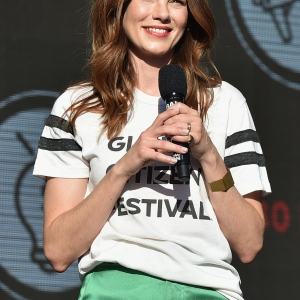 Actor Michelle Monaghan speaks onstage during the 2017 Global Citizen Festival