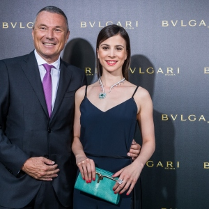 Jean-Christophe Babin, CEO of Bulgari, and Aylin Tezel