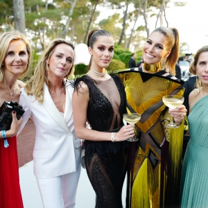 Iris Mittenaere,Laury Thilleman and Dali Ercoli, the amfAR Gala Cannes 2017