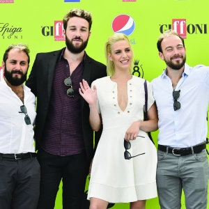 Fabio Balsamo, Francesco Capaldo, Beatrice Arnera and Simone Russo of The Jackal attend Giffoni Film Festival 2017