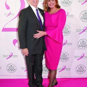 Alexandra Trower and John Lindsey attend the 25th Anniversary of the Estee Lauder Companies