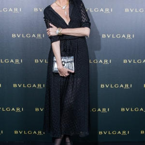 Nadja Auermann, Bulgari Boutique Opening In Frankfurt Am Main