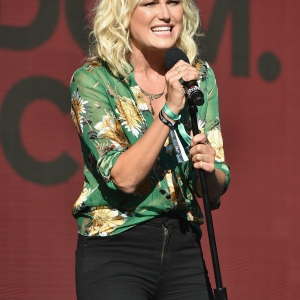 Actor Malin Akerman speaks onstage during the 2017 Global Citizen Festival