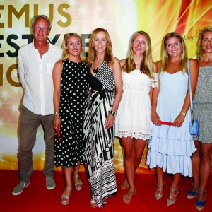 Katja Flint with her familie attend the Remus Lifestyle Night