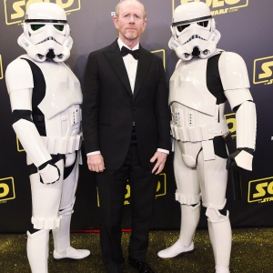 Director Ron Howard and Stormtroopers