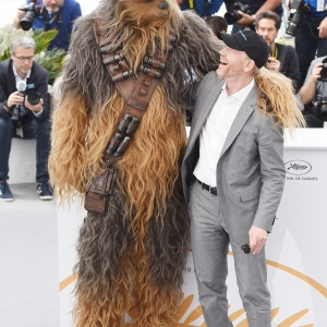 Chewbacca and director Ron Howard